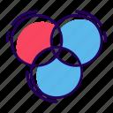 color palette, color swatches, paint palette, painting color palette, painting tool icon