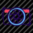camera aperture, camera lens, camera shutter, focus lens, lens aperture icon