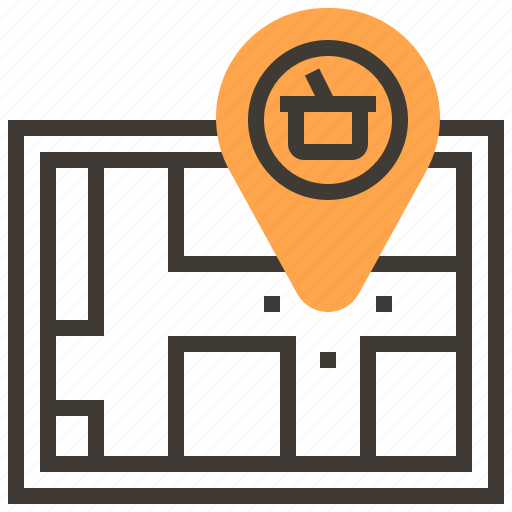 basket, family, gps, lunch, map, party, picnic icon
