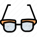 eye, eyeglasses, glass, specs, spectacles, view icon