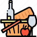 basket, cooking, food, fruit, shop, shopping icon