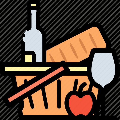 basket, cooking, food, fruit, shop, shopping icon