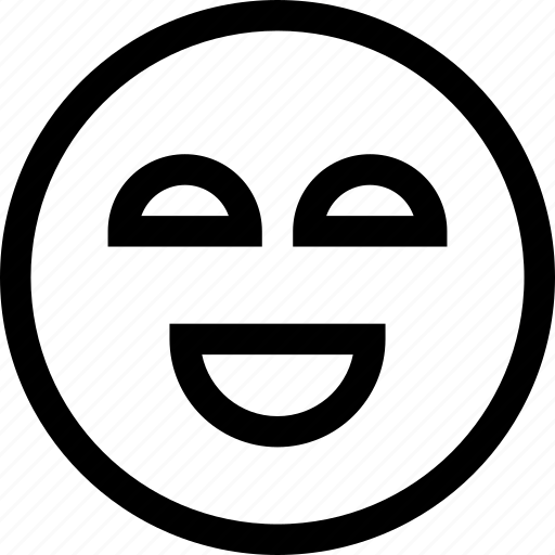 emotion, expression, face, good, happy, laugh, smile icon