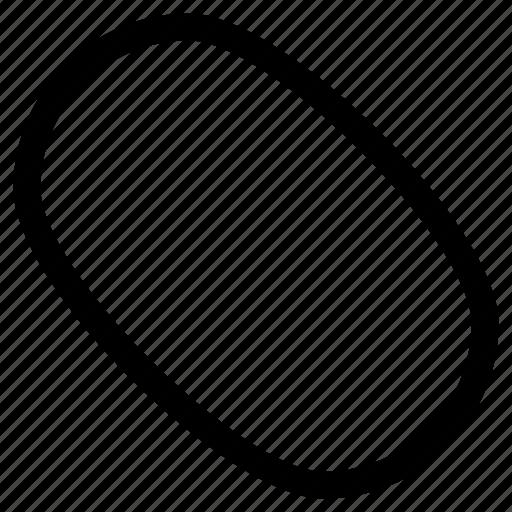 Oval Mosue Shape Organic Circular Icon