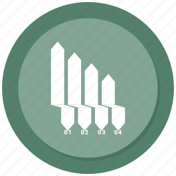 analytics, arrow, chart, growth, sales icon