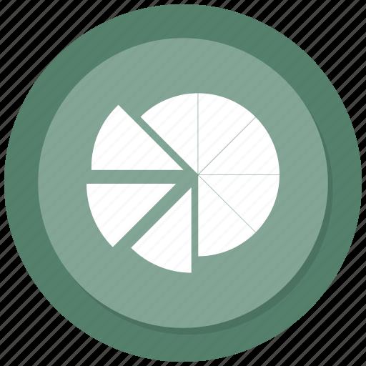 Graph, pie graph, pie, pie chart, statistics icon