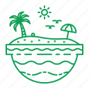 beach, holiday, sea, tropical, vacation icon