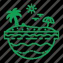 beach, holiday, sea, tropical, vacation