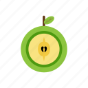 drink, food, fruit, green apples, nature icon