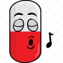 capsule, drugs, emoji, face, pill, prescription, smiley icon