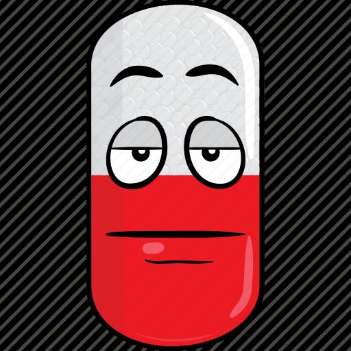 capsule, drugs, emoji, face, pill, prescription, smiley icon