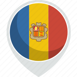 andorra, country, flag, nation icon