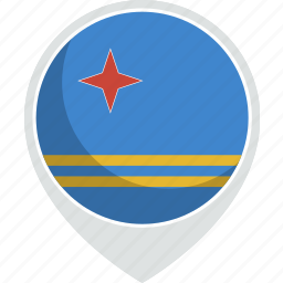 aruba, country, flag, nation icon
