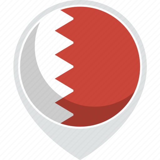 bahrain, country, flag, nation icon