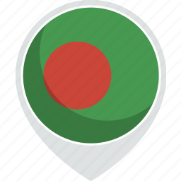 bangladesh, country, flag, nation icon