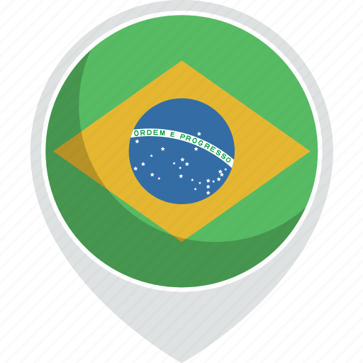 brazil, country, flag, nation icon