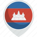 cambodia, country, flag, nation icon