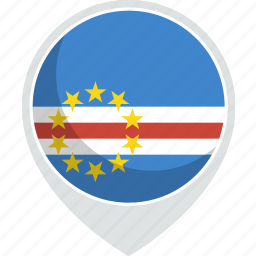 cape, country, flag, nation, verde icon