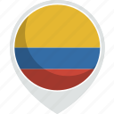 colombia, country, flag, nation icon