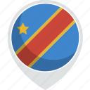 congo, country, democratic, flag, nation, republic icon
