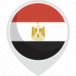 country, egypt, flag, nation icon