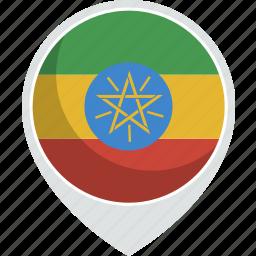country, ethiopia, flag, nation icon