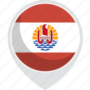 country, flag, french, nation, polynesia icon