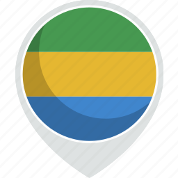 country, flag, gabon, gabonese, nation, republic icon