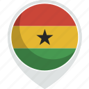 ghana, country, flag, nation icon