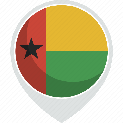 bissau, country, flag, guinea, nation icon