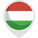 country, flag, hungaria, nation icon