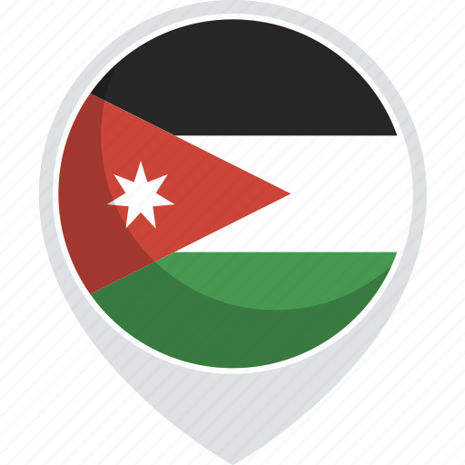 country, flag, jordan, nation icon
