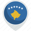 country, flag, kosovo, nation icon