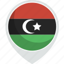 country, flag, libya, nation