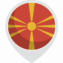 country, flag, macedonia, nation icon