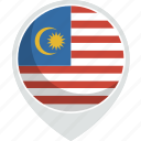 country, flag, malaysia, nation
