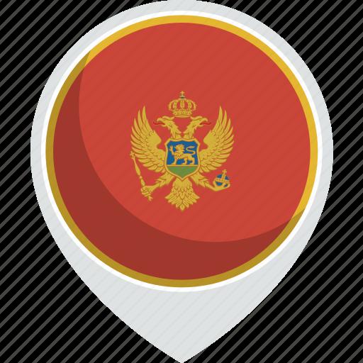 country, flag, montenegro, nation icon