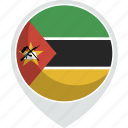 country, flag, mozambique, nation icon