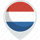 country, flag, netherlands, nation icon
