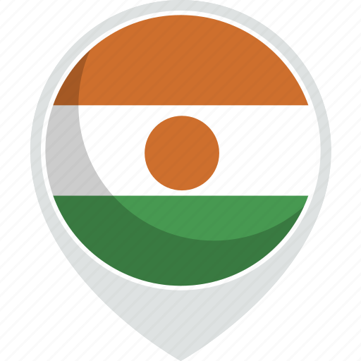 country, flag, nation, niger icon