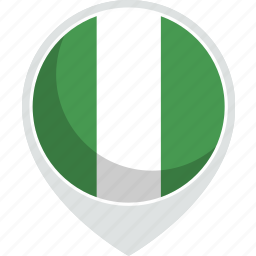 country, flag, nation, nigeria icon