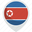 country, flag, korea, nation, north icon