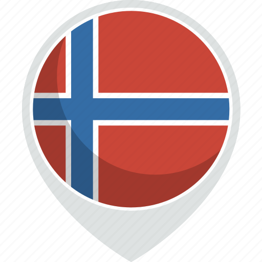 country, flag, nation, norway icon