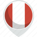 country, flag, peru, nation icon