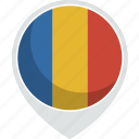 country, flag, nation, romania icon