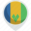 and, country, flag, grenadines, nation, saint, vincent icon