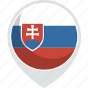country, flag, nation, slovakia icon