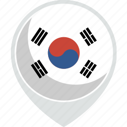 country, flag, korea, nation, south icon