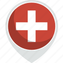 country, flag, nation, switzeland icon
