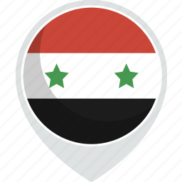 country, flag, nation, syria icon